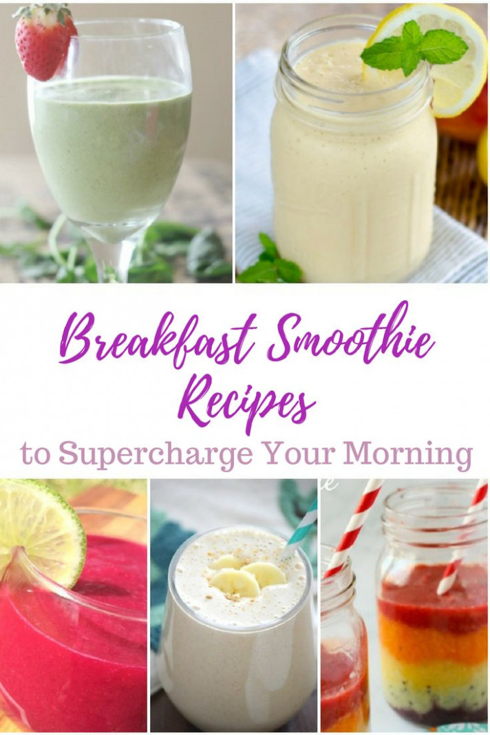 Breakfast Smoothie Recipes to Supercharge Your Mornings ...
