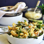 Brie And Asparagus Pasta #SundaySupper | Life Tastes Good
