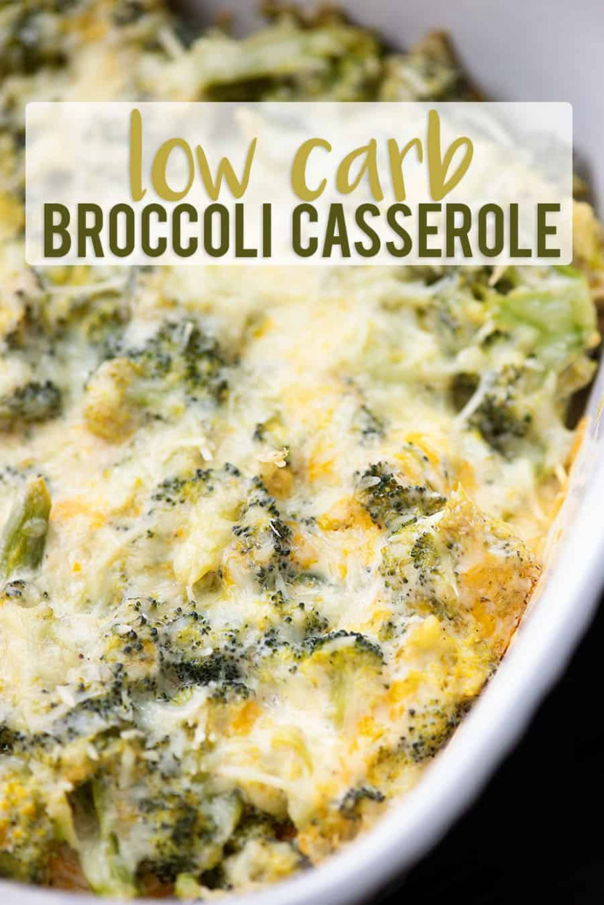 Broccoli Cheese Casserole - extra cheesy and low carb too!