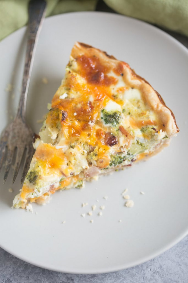 Broccoli Cheese Quiche - Tastes Better From Scratch