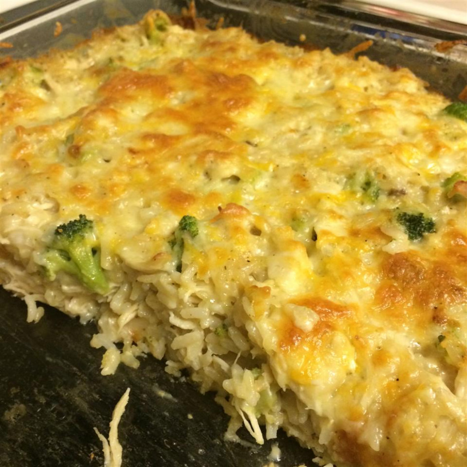 Broccoli, Rice, Cheese, and Chicken Casserole Recipe ...