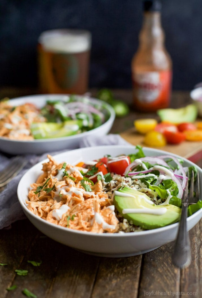 Buffalo Chicken Quinoa Bowls | Easy Healthy Recipes Using ...