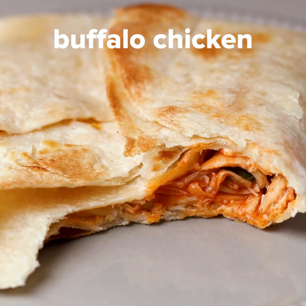 "Buffalo Chicken Toaster ""Quesadilla"" Recipe by Tasty"