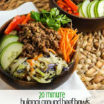 Bulgogi Ground Beef Bowls With Vegetables