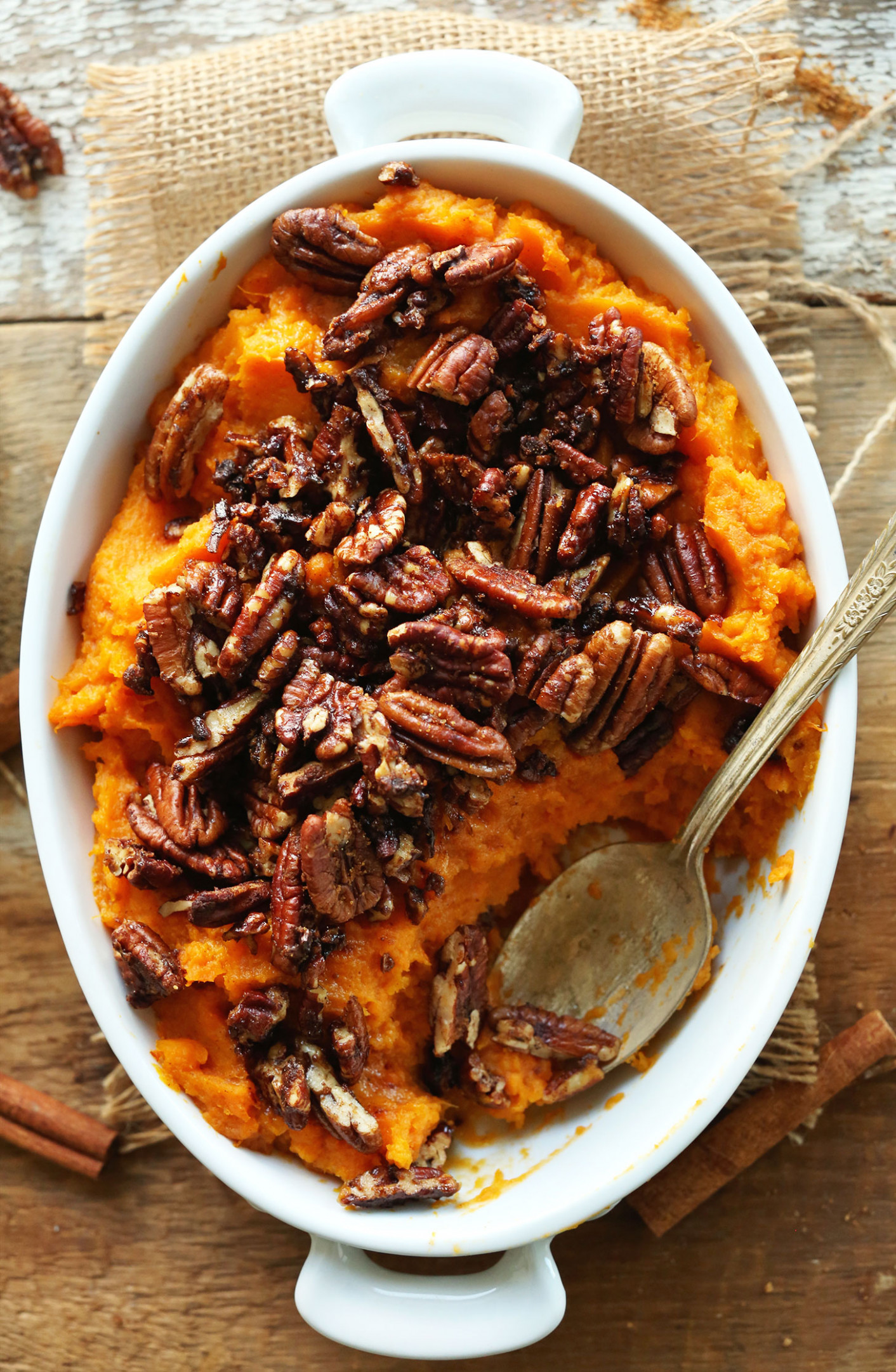 Butternut Pecan Sweet Potato Mash