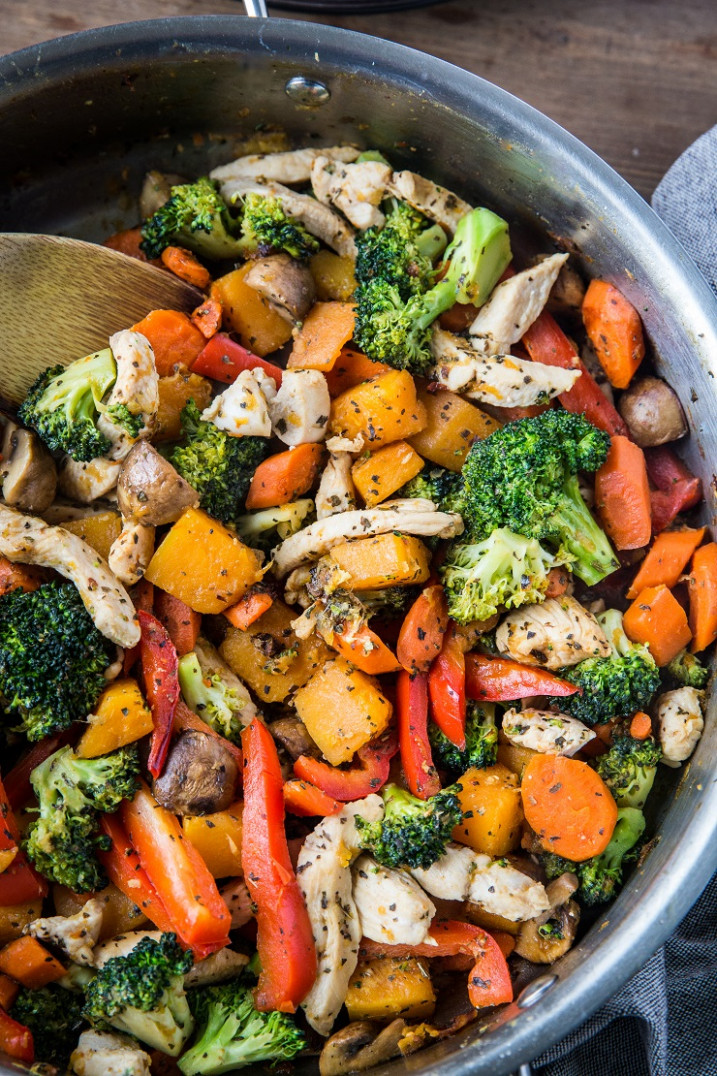 Butternut Squash Ginger Chicken Stir Fry