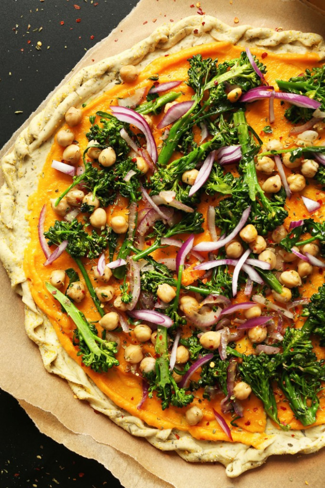 Butternut Squash Veggie Pizza | Minimalist Baker Recipes