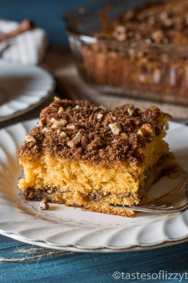 Butterscotch Coffee Cake With Brown Sugar Pecan Streusel