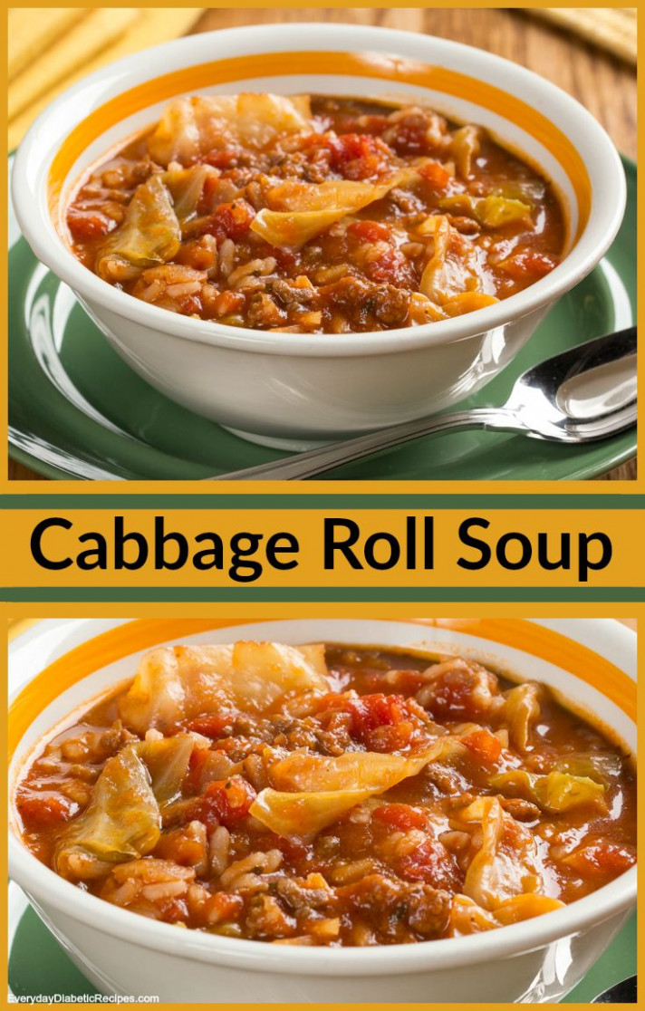 Cabbage Roll Soup | Recipe | Diabetic-Friendly Soups ...