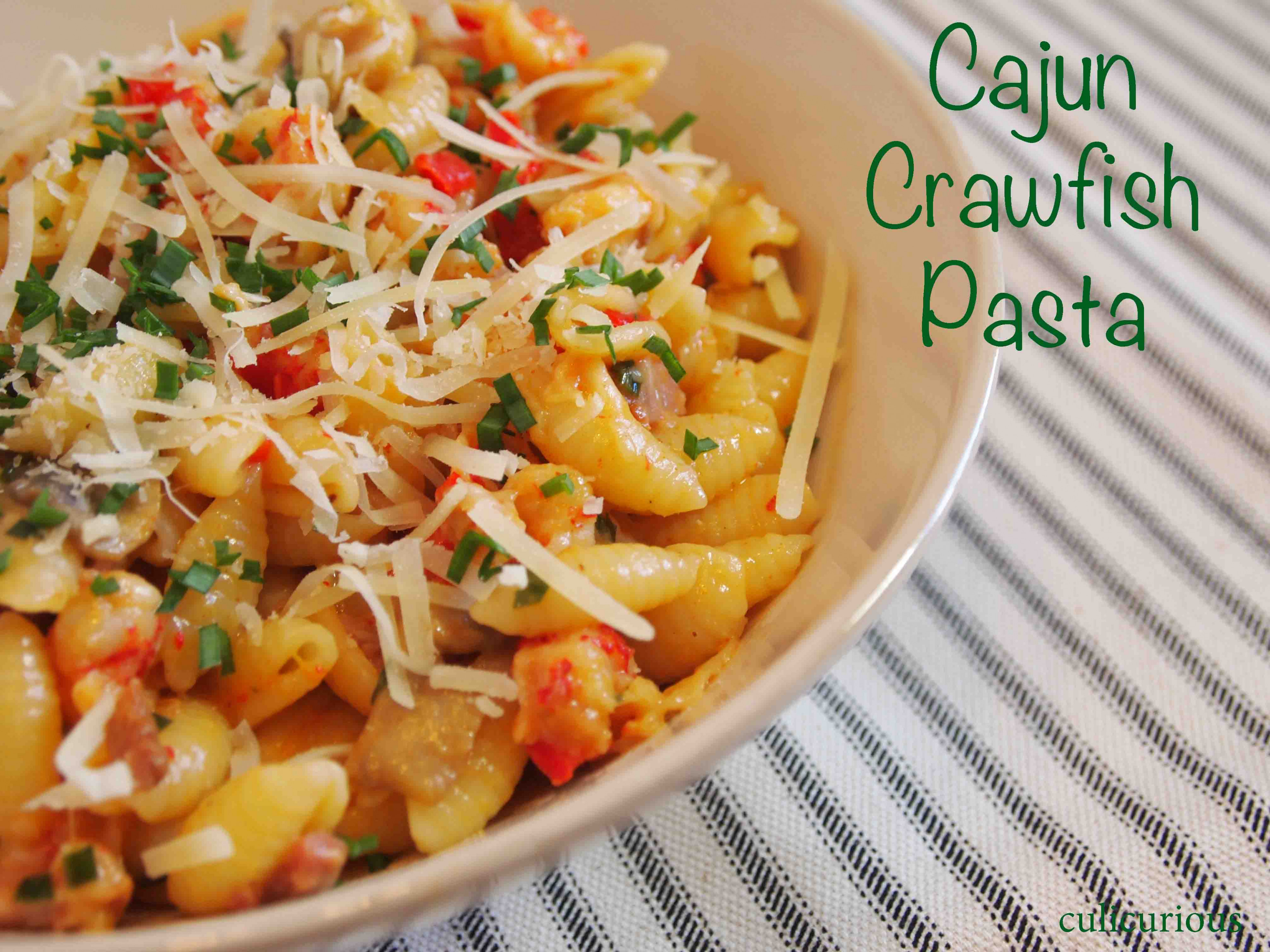 Cajun Crawfish Pasta Recipe | Culicurious