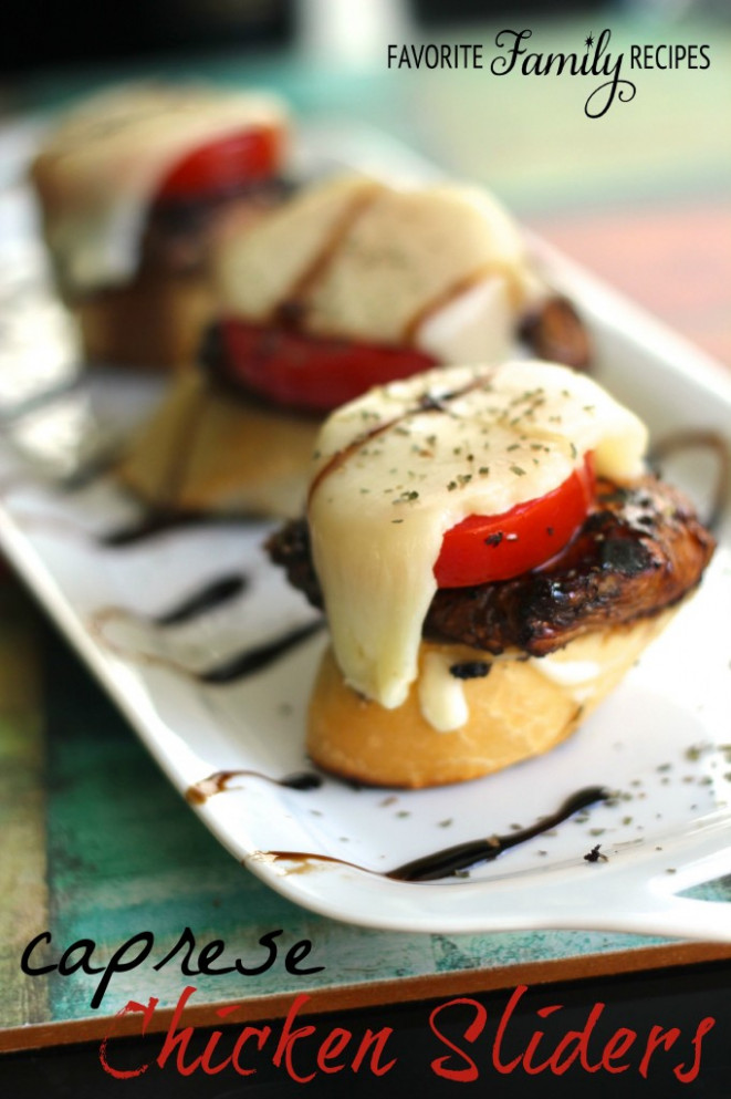 Caprese Chicken Sliders | Favorite Family Recipes