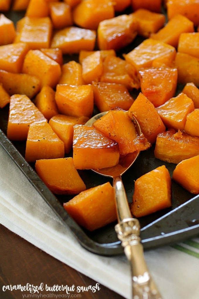 Caramelized Butternut Squash - Yummy Healthy Easy