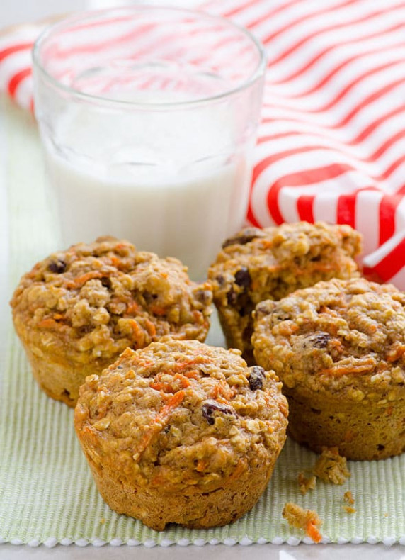 Carrot Oatmeal Muffins - iFOODreal - Healthy Family Recipes