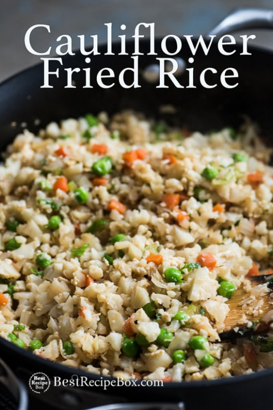 Cauliflower Fried Rice Recipe | Healthy fried rice with ...