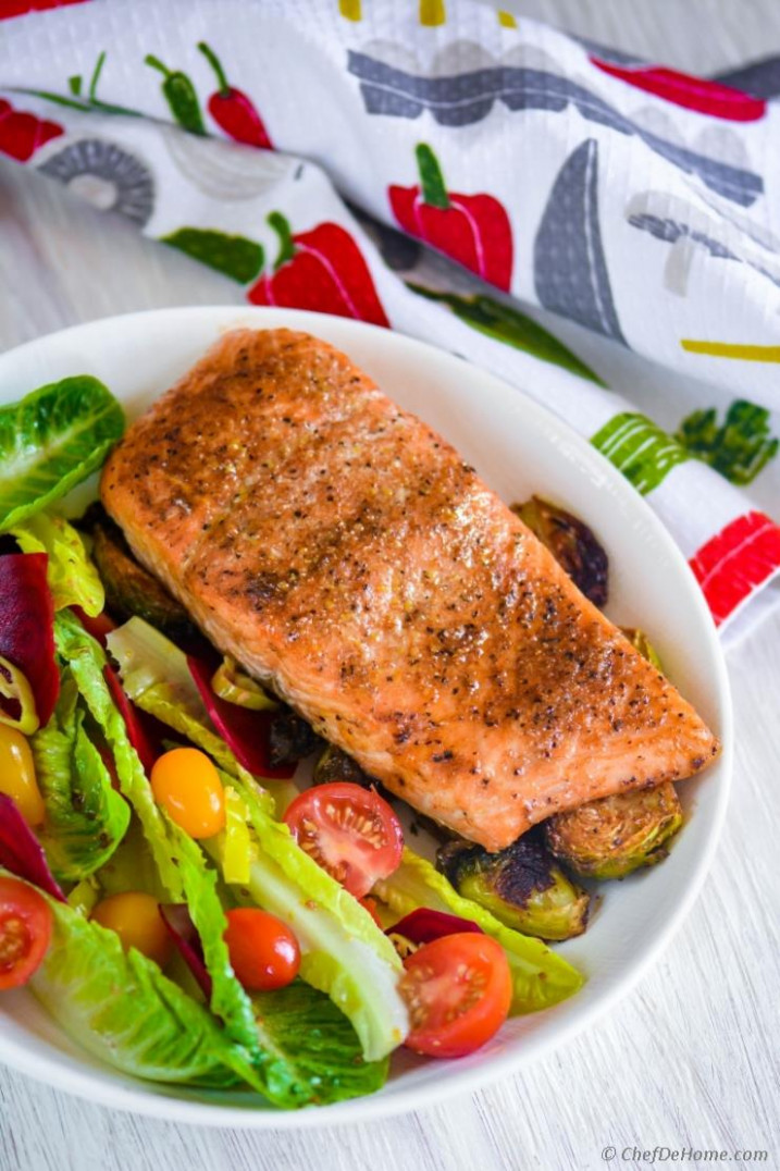Cedar Plank Salmon with Beets Salad Recipe | ChefDeHome.com