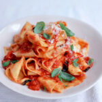 Cheat's Homemade Pappardelle With Quick Tomato Sauce …