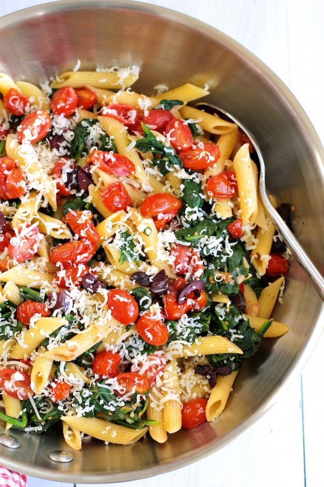 Check Out Pasta With Sautéed Cherry Tomatoes And Spinach …