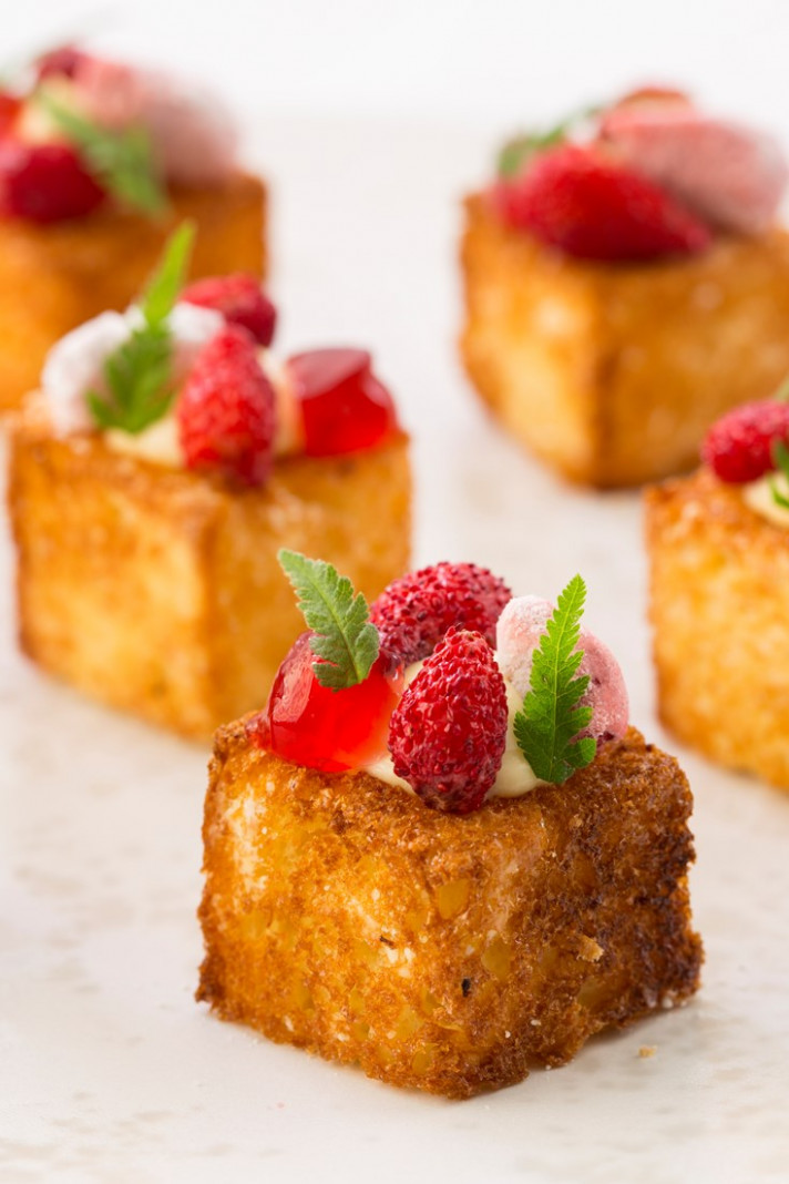 Cheesecake and Brioche Canapé Recipe - Great British Chefs
