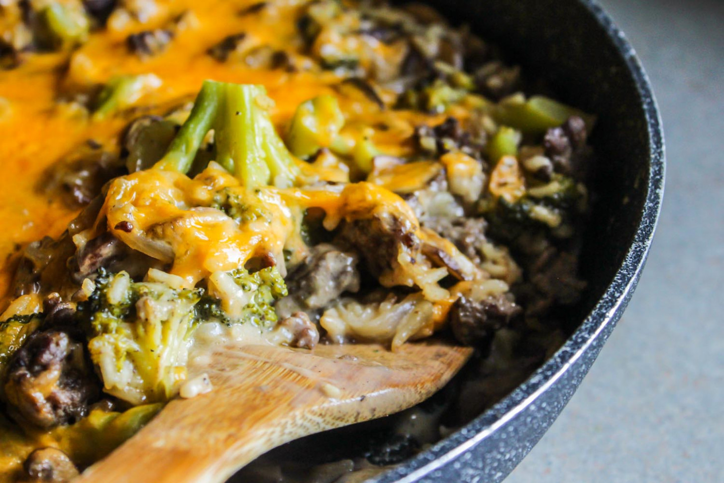 Cheesy Beef and Rice Broccoli Casserole - Lisa G Cooks