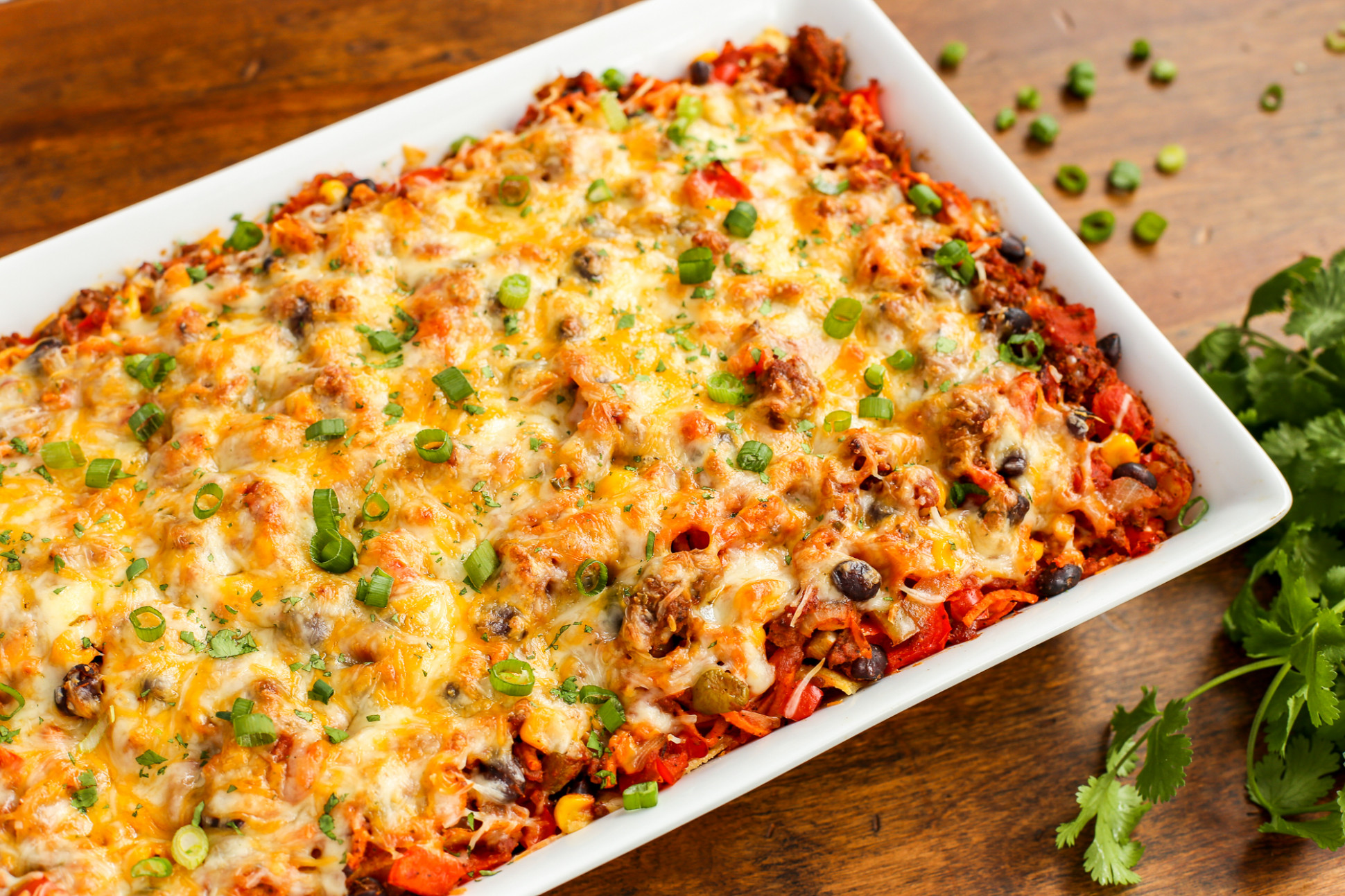 Cheesy Beef and Sweet Potato Taco Casserole | The Pioneer ...
