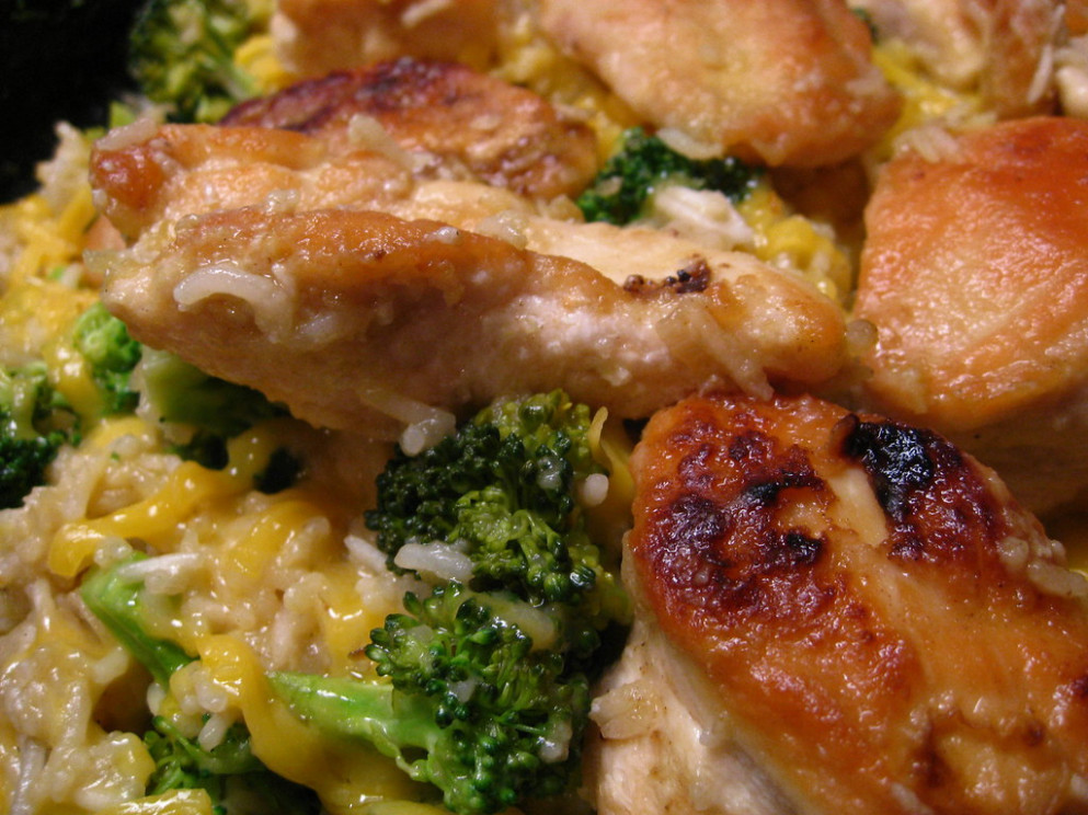 Cheesy Chicken Broccoli and Rice
