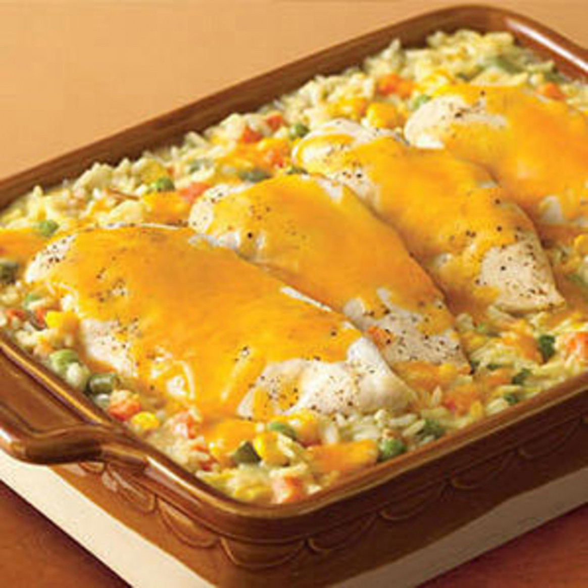 Cheesy Chicken & Rice Casserole - Rachael Ray Every Day