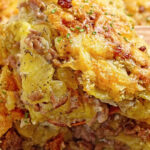 Cheesy Ground Beef And Potato Casserole