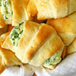Cheesy Spinach Crescents - Kleinworth & Co
