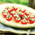 Cherry Tomatoes Stuffed with Mozzarella & Basil - Recipe ...