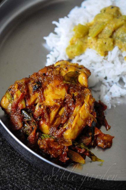 Chettinad chicken masala recipe, a dry Chettinad-style ...