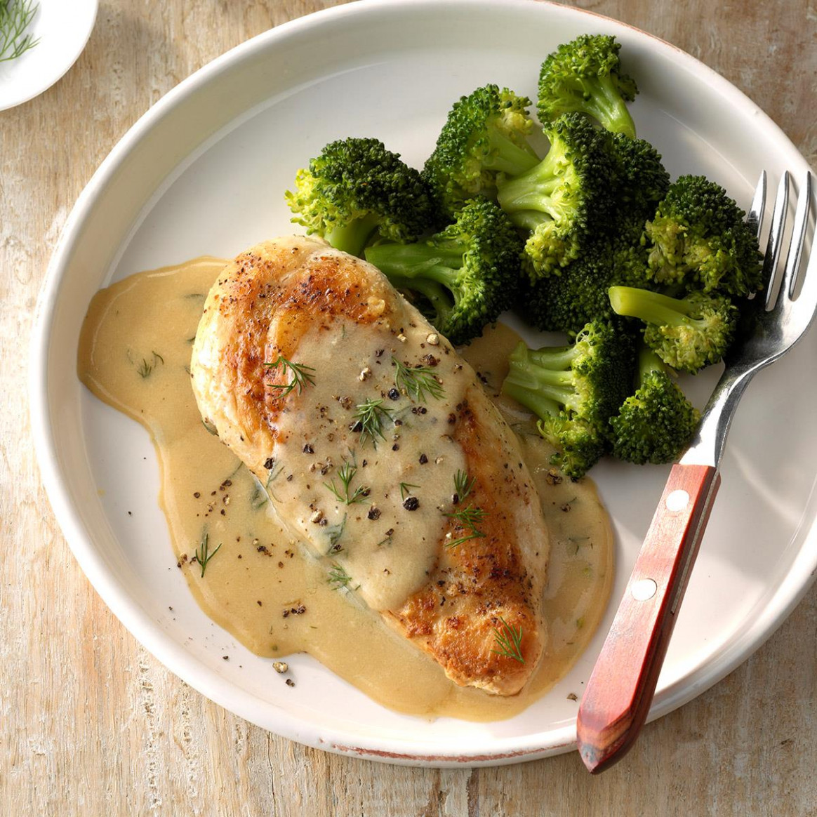 Chicken and Broccoli with Dill Sauce Recipe | Taste of Home