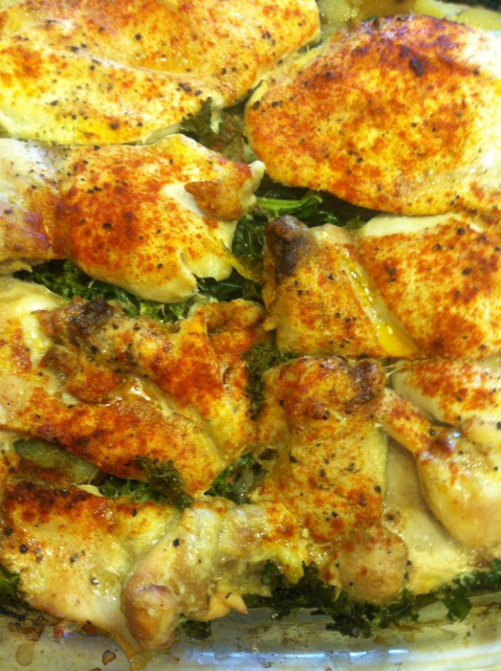 Chicken and Kale with Potatoes! | Chicken Recipes | Kale ...