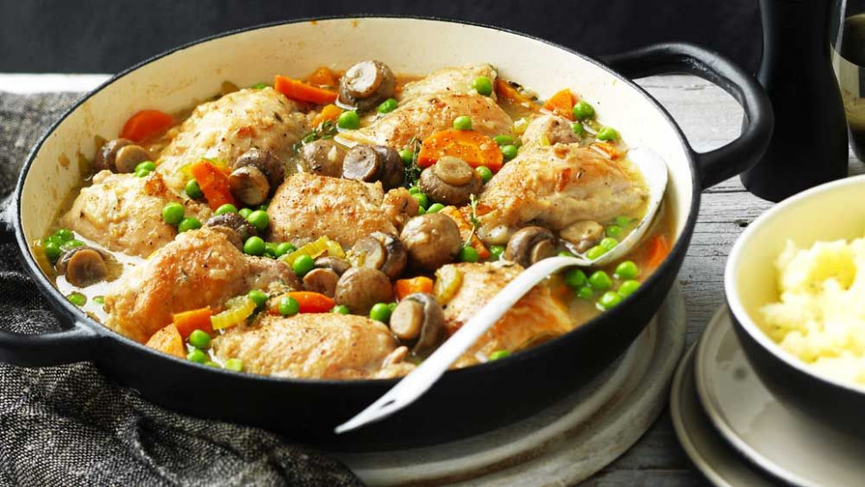 Chicken and Mushroom Casserole Recipe - Nine Kitchen