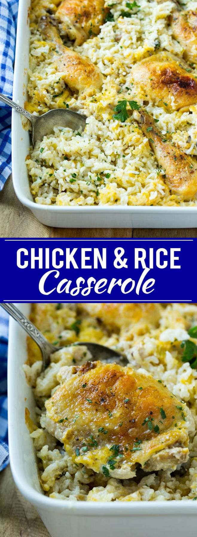 Chicken and Rice Casserole - Dinner at the Zoo