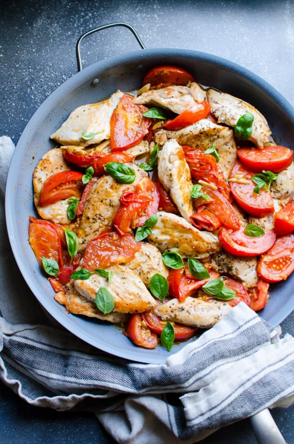 Chicken Breast with Tomatoes and Garlic - iFOODreal ...