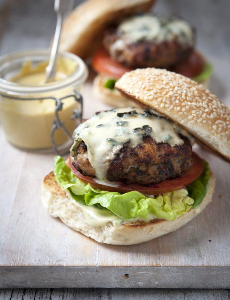 Chicken Burgers - Recipes - Hairy Bikers