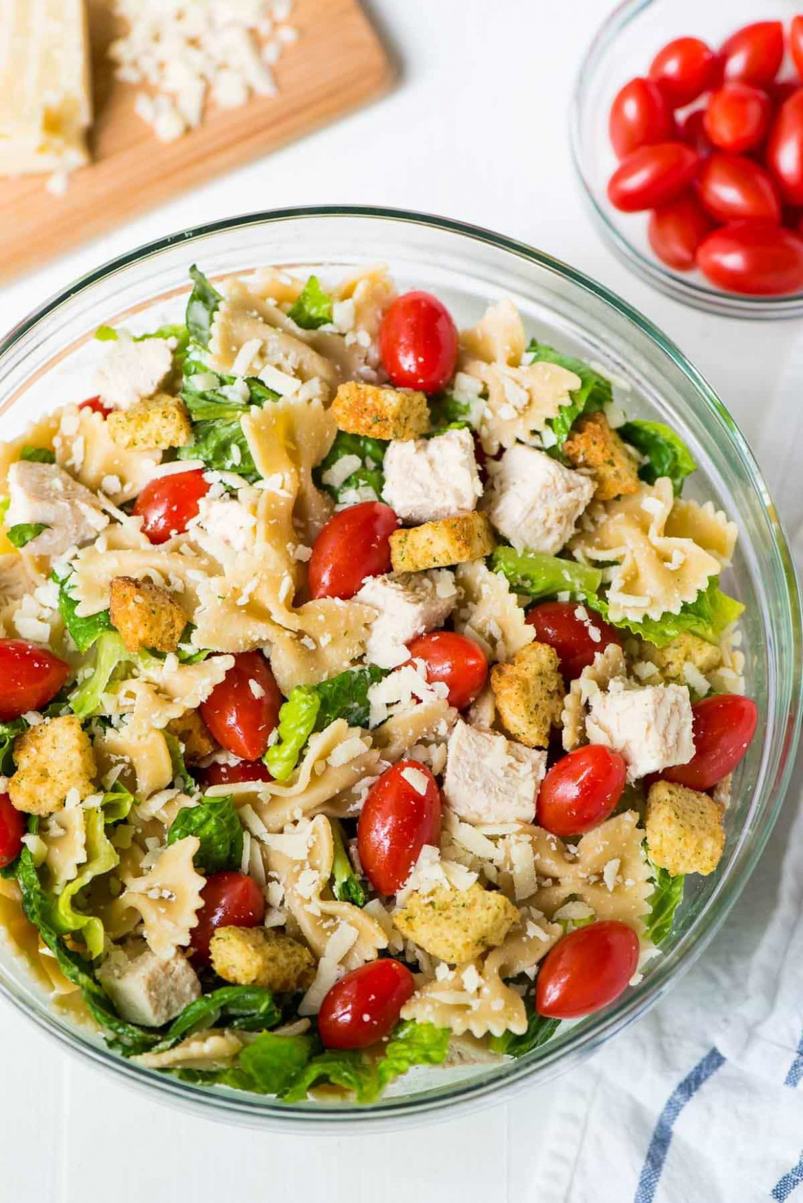Chicken Caesar Pasta Salad | Well Plated by Erin
