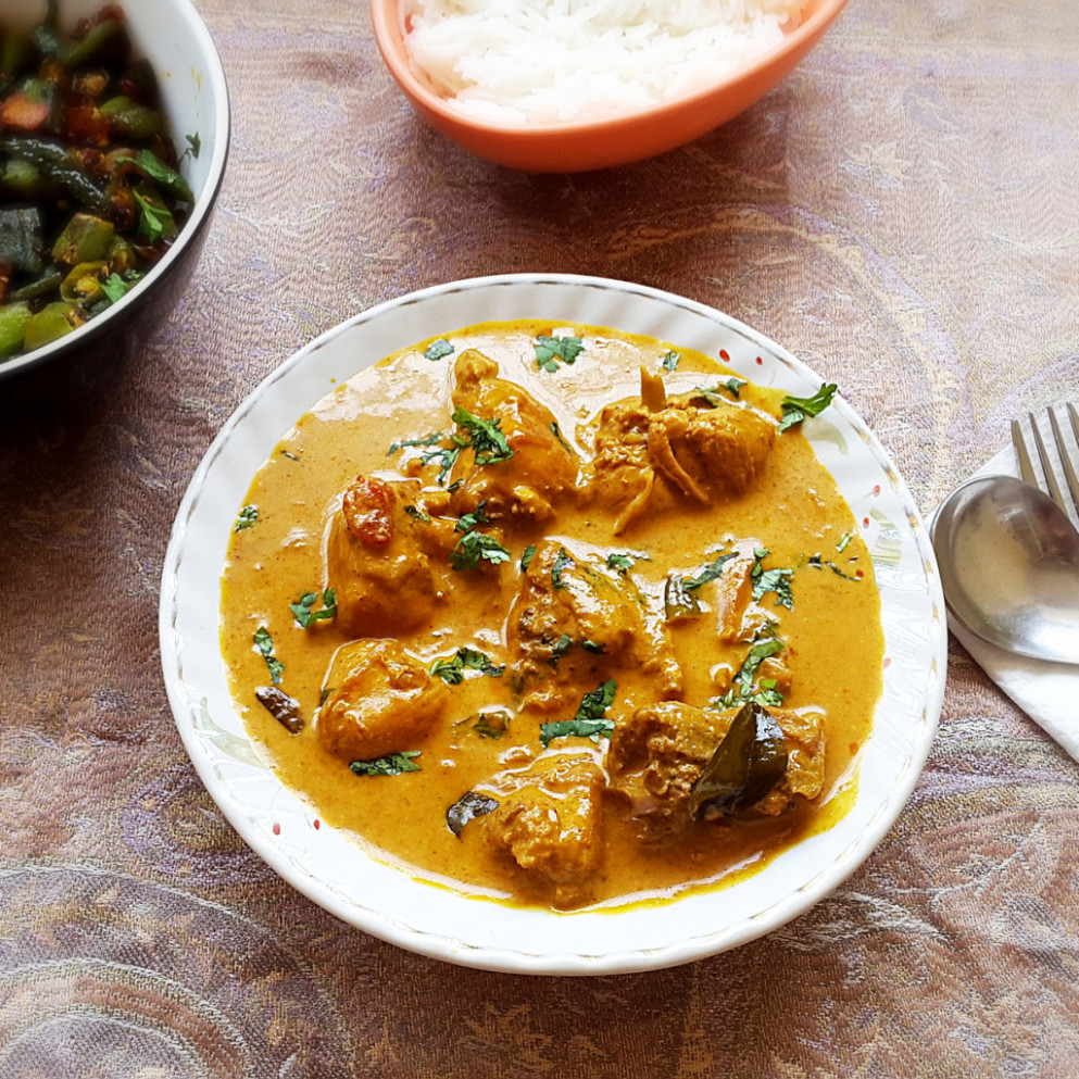 Chicken coconut curry recipe – Chicken with coconut milk and ...