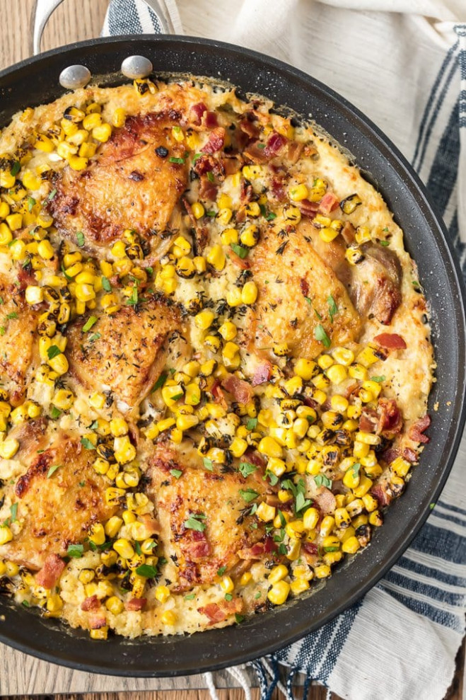 Chicken Couscous Recipe with Bacon & Corn - The Cookie Rookie