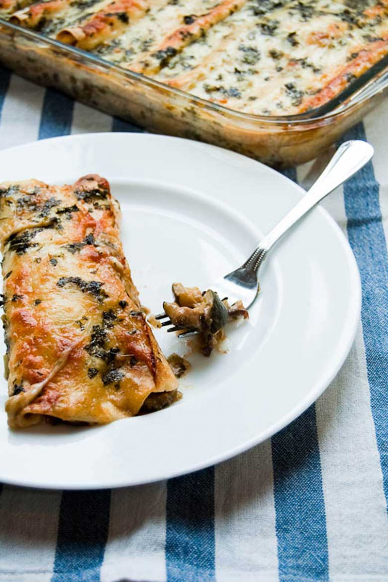Chicken Enchiladas + Black Bean-Zucchini Enchiladas ...