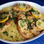 Chicken Francaise Over Spaghetti Recipe | Just A Pinch Recipes