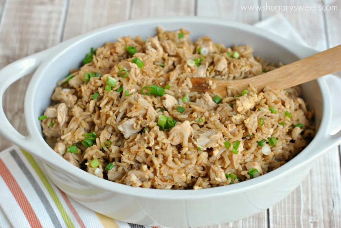 Chicken Fried Rice - Shugary Sweets