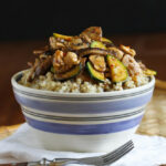 Chicken Hoisin Rice Bowl Recipe With Mushrooms & Zucchini | Cookincanuck