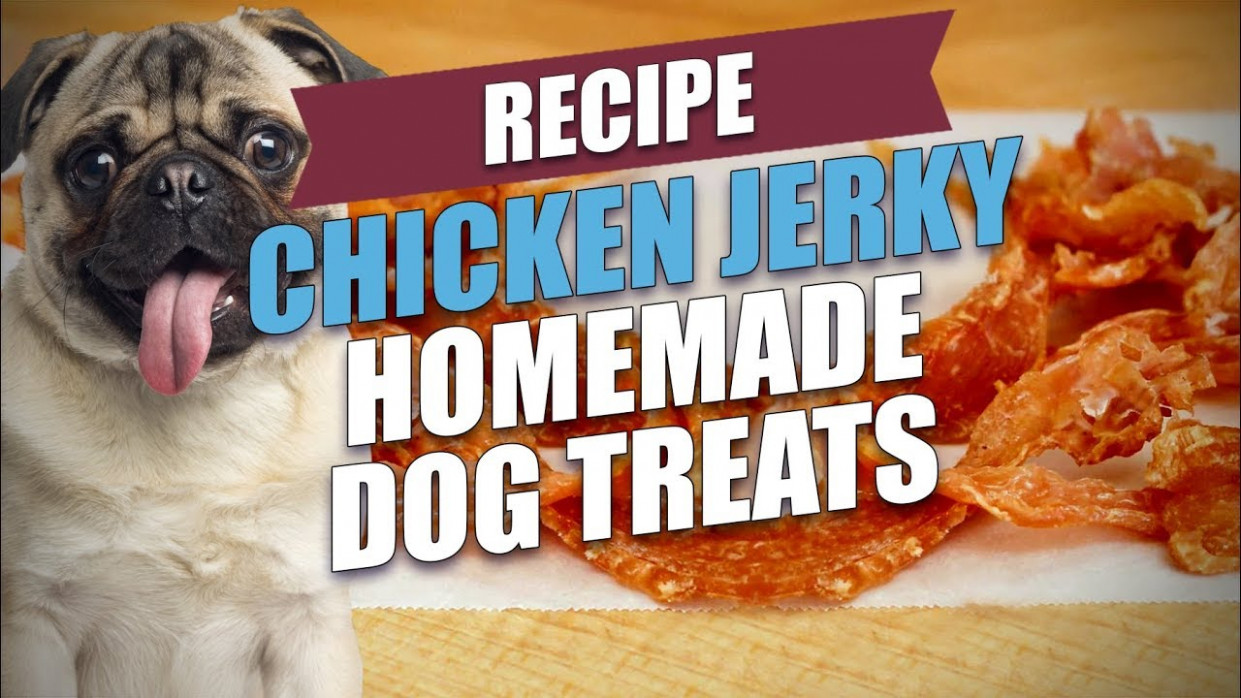 Chicken Jerky Homemade Dog Treats Recipe (Natural and Healthy)
