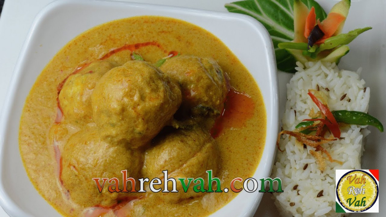 Chicken Koftas Korma - By VahChef @ VahRehVah.com - YouTube