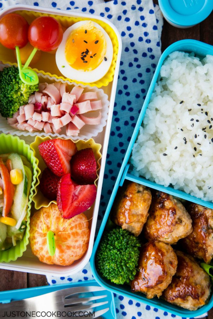 Chicken Meatball Bento | Recipe | What would you bring to ...