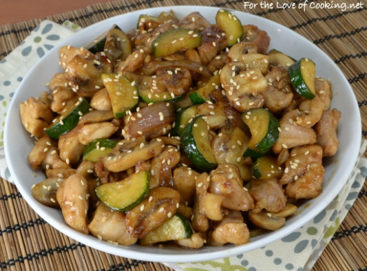Chicken, Mushroom, and Zucchini Stir Fry | For the Love of ...
