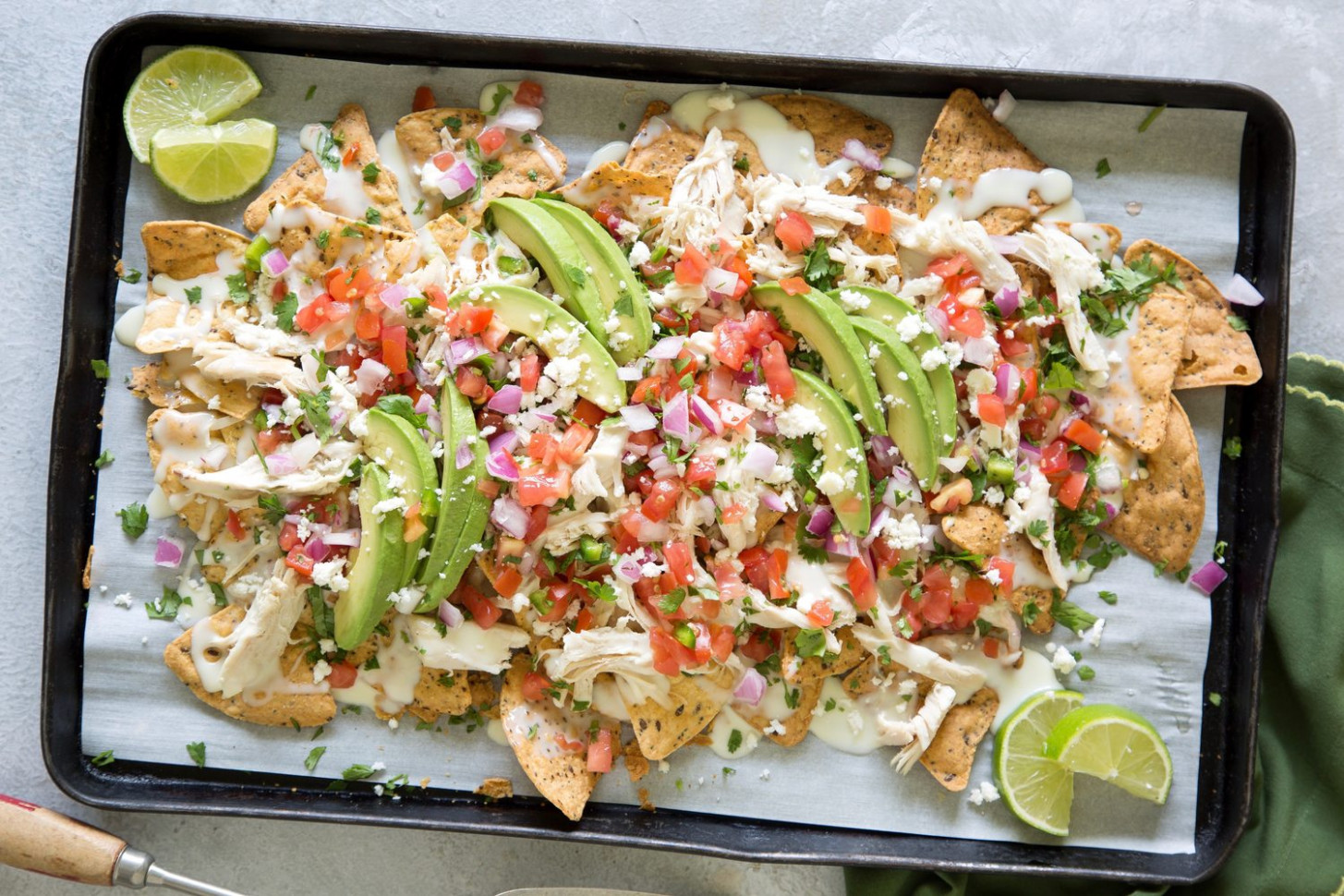 Chicken Nachos with White Queso