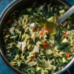 Chicken Noodle Soup With Fennel, Zucchini, And Kale