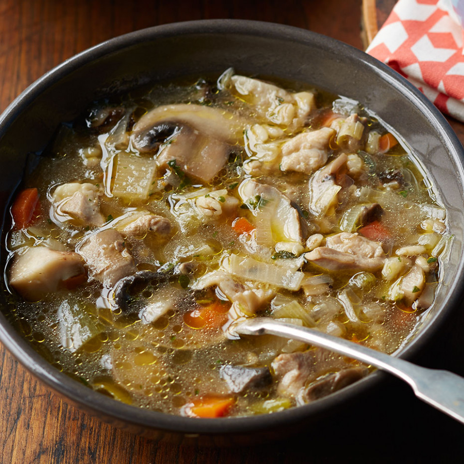 Chicken Noodle Soup With Mushrooms Recipe — Dishmaps